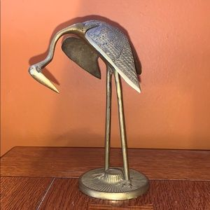 Vintage mid century modern brass crane
